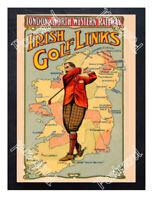 Historic Irish Golf Links With Harry Vardon 1905 Advertising Postcard