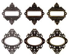 Frame Pendants Connectors Focal Pendants Set Bronze Copper Silver 6pcs