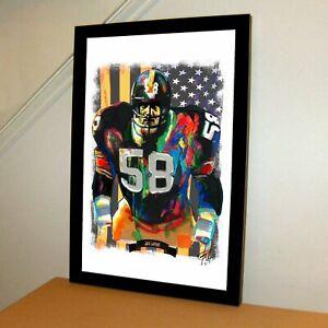 Jack Lambert Pittsburgh Steelers Football NFL Sports Poster Print Wall Art 11x17