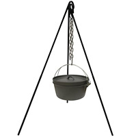 Cast Iron Camping Tripod for Outdoor Campfire Cooking