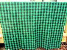 Kenwood Wool Vtg Black Green Buffalo Plaid Roundup Blanket 68x90 Twin 3 Avail EX