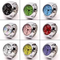 Creative Fashion Steel Round Elastic Quartz Finger Ring Watch For Lady Girl Gift