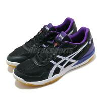 Asics Rote Japan Lyte FF Black Purple White Gum Men Volleyball Shoe 1053A002-401