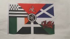 "Celtic Nations Flag mini small 9""x6"" 22cm x 15cm Polyester sleeved Project"