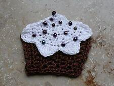 geHäkelte Applikation Aufnäher Muffin Cupcake Törtchen Unikat Dawanda Farbenmix