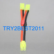 Mini Tamiya Parallel Y- Harness one male two female Airsoft RC NiMH