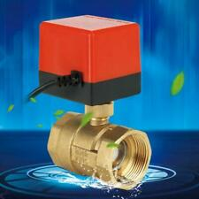 "DN40 G1-1/2"" Electric Motorized Ball Valve Brass 2 Way 3-Wire DC 24V 6W 1.6MPa"