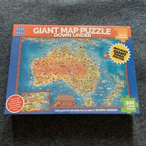 *New Sealed* Blue Opal Giant Map Down Under Jigsaw Puzzle - BL01880 90 x 60 cm