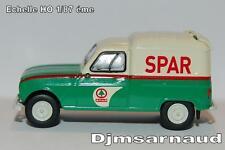 """Renault 4 L Renault fourgonette """"SPAR"""" éch HO 1/87 éme BREKINA SAI 2437"""