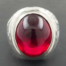RUBY Handmade Solid 925 Sterling Silver Men Ring