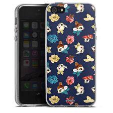 Apple iPhone 5s Silikon Hülle Case - Cute Bambi Pattern