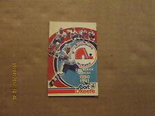 NHL Quebec Nordiques Vintage Defunct 1980 1981 Logo Hockey Pocket Schedule