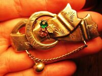 IMPERIAL RUSSIA, RUSSIAN SILVER 84 BROOCH