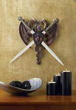 Fierce Dragon Sword Plaque Crest Fantasy Gothic Medieval Home Wall Decor 38011