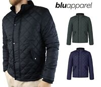 Mens Quilted Jacket S M L XL XXL UK SIZE Puffer Bubble Down Coat Bomber Charlie