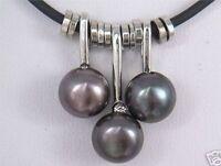 Charme kultiviert schwarz Süßwasserperle -Anhänger Halskette