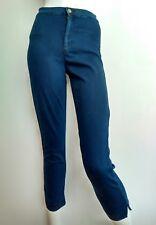 AMERICAN APPAREL cintura alta recortada Skinny Jeans Tamaño S -- usado una vez -- Dark Wash