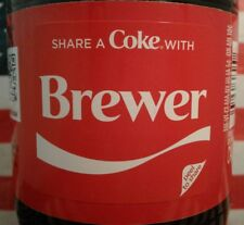 Share A Coke With Brewer 2018 Limited Edition Personalized Coca Cola Bottle