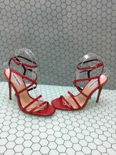 Steve Madden AMORA Red Patent Leather Strappy High Heels Women's Size 6.5 M