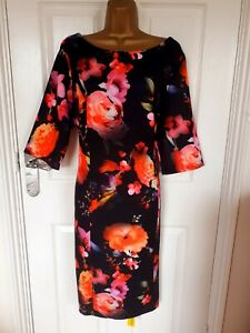 """NWT Size UK-22 Unlined  shift dress short sleeved in a floral mix  Bust 46"""""""