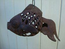 Vintage Fish Cast Iron Koi Pond Garden Lantern