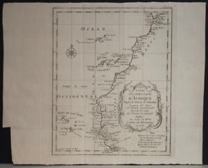 CANARY ISLANDS CAPE VERDE WEST AFRICA 1749 JACQUES NICOLAS BELLIN ANTIQUE MAP