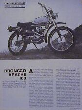 BRONCO APACHE 100 Motorcycle Impression Article 1971