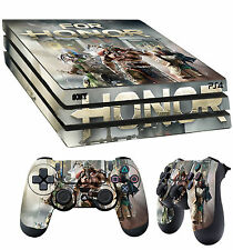 PS4 Pro Skin For Honor Knight Samurai Viking Sticker + 2 X Pad decal Vinyl LAY