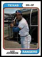 1974 TOPPS ALEX JOHNSON #107 MINT WELL CENTERED ULTRA HI-GRADE SET BREAK BLR10J1