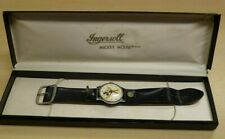 Vintage Ingersoll Mens Mickey Mouse Wind-Up Watch in Original Box, Not Working