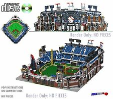 CD Baseball Stadium, Lego Custom Instructions, town train city modular #57