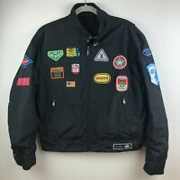 Dickies Nylon Jacket Kids Boys Youth Patches Lightweight Vintage Size Large EUC