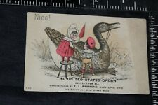 Trade Card Ad United States Organ Cleveland Ohio for H. Ackerman Marion