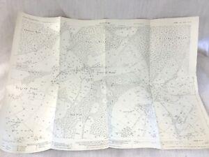 1931 Antique Old Map of Sussex Cross in Hand Village Heathfield Beacon Down