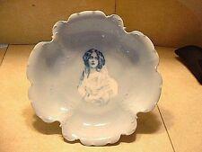 Large Antique Philip Rosenthal Copenhagen Porcelain Bowl With Portrait Of A Lady