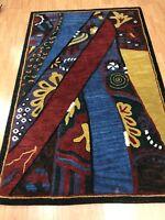 5' x 8' New Indian Art Deco Oriental Rug - Hand Made - 100% Wool - Modern
