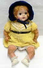 VINTAGE FAIRYLAND COMPOSITION FACE RUBBER LEGS & ARMS BLINKING EYES DOLL