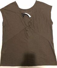 MWT banana republic Women Size L linen blend vee twist back Tee Shirt  top Green