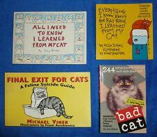 Lot of 4 Humorous Cat Books.
