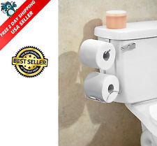 Tissue Holder Toilet Paper Storage Organizer Bathroom Rack Chrome Free Shipping