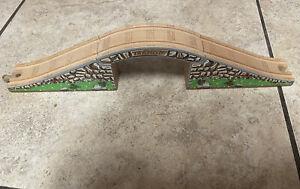 Authentic Learning Curve Wooden Thomas Train 3 Piece Maron Stone Bridge!