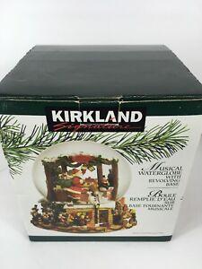 Kirkland Signature Musical Waterglobe W/ Revolving Base ~ Santa Bringing Toys