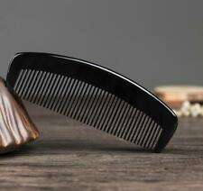 Natural Antistatic Genuine Black Buffalo Horn comb Fine Toothed Comb Freeship