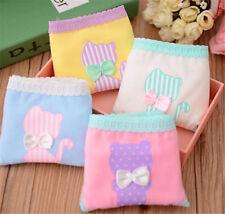 4 Pcs Packed Cotton Bear Cat Girl Women Briefs Panties Underpants Underwear