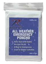 Rothco 3681 All Weather Emergency Poncho - Multiple Colors