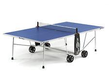 Cornilleau 100 S Crossover outdoor Tischtennisplatte  Blau mit Netz