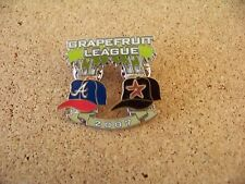 2007 Atlanta Braves vs Houston Astros Spring Training Grapefruit League pin