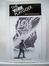 LOST IN THE STARS Playbill KEN PRYMUS / EVAN BELL / KURT WEILL NYC 1988