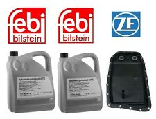 OEM ZF Transmission Oil Pan Filter Kit & 10-Quarts Trans Fluid for BMW Jaguar