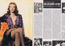 Coupure de presse Clipping 1976 Hildegard Knef (4 pages)
